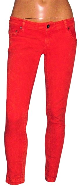 Item - Red Light Wash Stretch / Leggings Skinny Jeans Size 25 (2, XS)