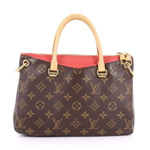 Louis Vuitton Pallas Canvas Tote in Brown