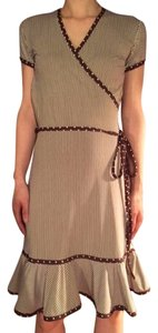 short dress Brown Stripes on Tradesy