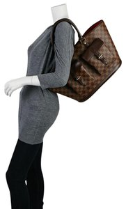 Louis Vuitton Damier Neverfull Damier Canvas Damier Shopper Damier Damier Large Tote in BROWN