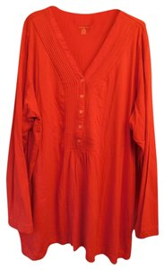 Lands' End Plus-size V-neck Longsleeve Tunic
