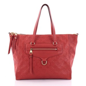 Louis Vuitton Lumineuse Leather Tote in Red-orange