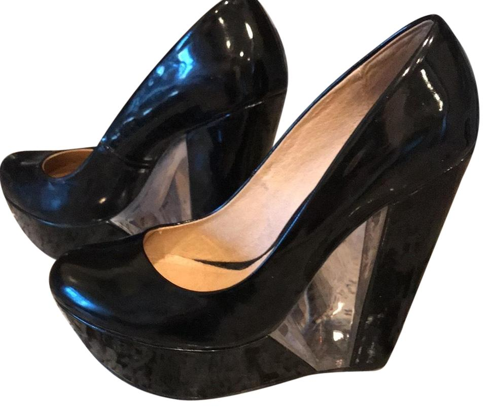 f9fff7f3c0bb ALDO Black Patent Leather Wedges. Size  US 8 Regular (M ...