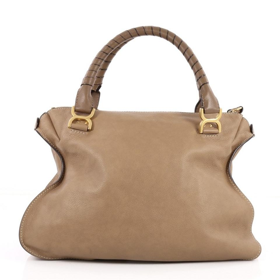 1987f2ff9d83 Chloé Marcie Large Brown Leather Shoulder Bag - Tradesy