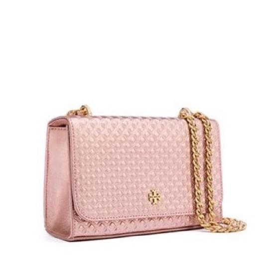 17582edfca1a7e Michael Kors Sloan Large Quilted-leather Shoulder Rose Gold Quilted Leather:  Tory Burch Rose Gold Leather Marion Shoulder Bag