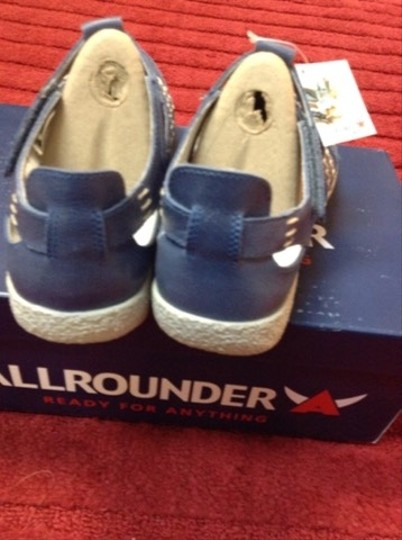 AllRounder Leather Travel Walking Casual Blue Athletic