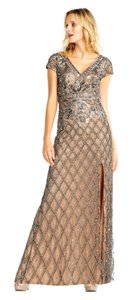 Adrianna Papell Beaded Holiday Mob New Years Eve Dress