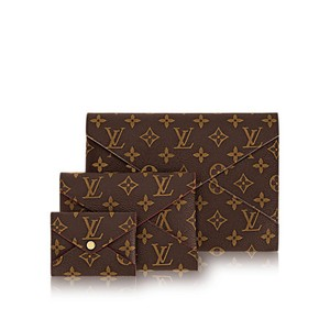 Louis Vuitton Envelope Neverfull Arsty Monogram Brown red pink rose ballerine Clutch