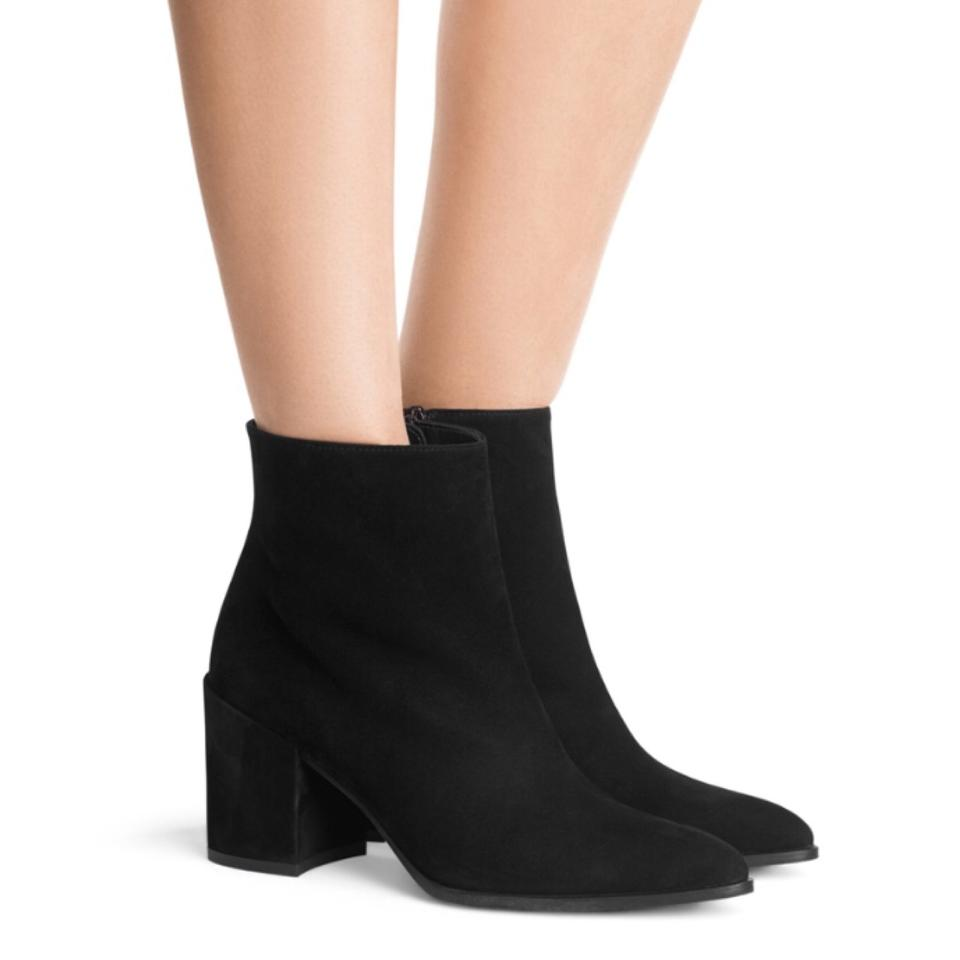 enjoy free shipping huge selection of 2019 best sell Stuart Weitzman Black Trendy Pointed Ankle Boots/Booties Size US 7.5  Regular (M, B)