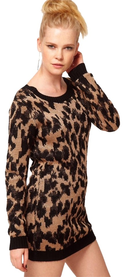 37a8a079e8c MINKPINK Black Gold Queens Leopard Night Out Dress. Size  4 (S) Length   Short ...