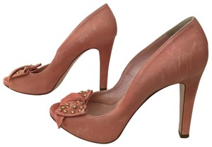 RED Valentino Leather Studded Never Worn Pink Pumps