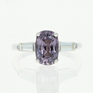Purple Spinel Diamond - 14k White Gold Size 3.17ctw Engagement Ring