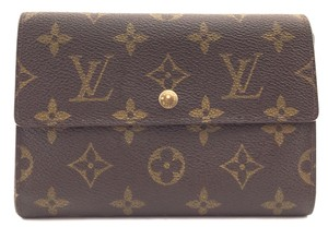 Louis Vuitton #15935 with insert Wide Large Long trifold Wallet Pocket organizer