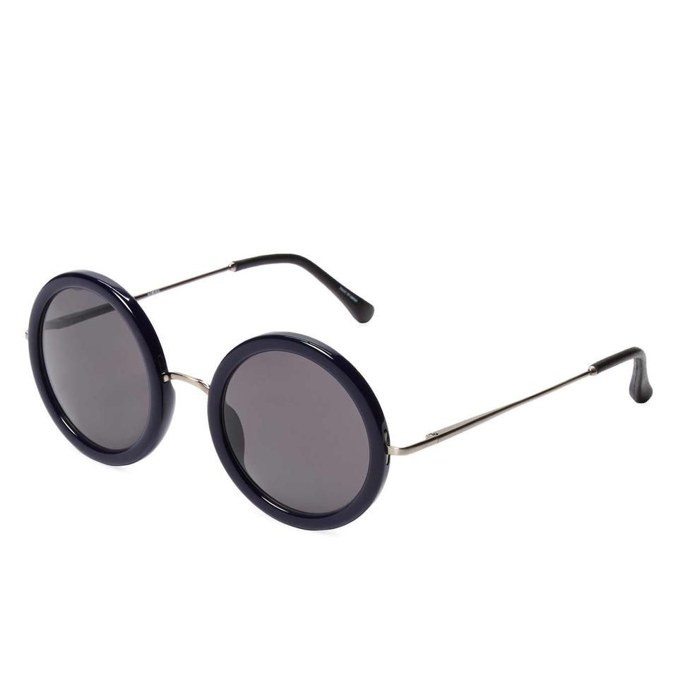 cc9b67878a02 Linda Farrow for The Row Navy 8  Classic Sunglasses - Tradesy