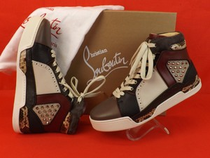 Christian Louboutin Multi-color Loubikick Leather Suede Python Spiked Hi Top Sneakers 46 13 Shoes