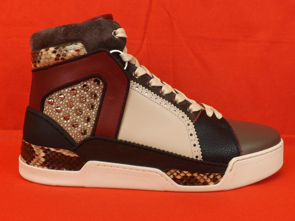fc8f68a586e Christian Louboutin Multi-color Loubikick Leather Suede Python Spiked Hi  Top Sneakers 46 13 Shoes 26% off retail