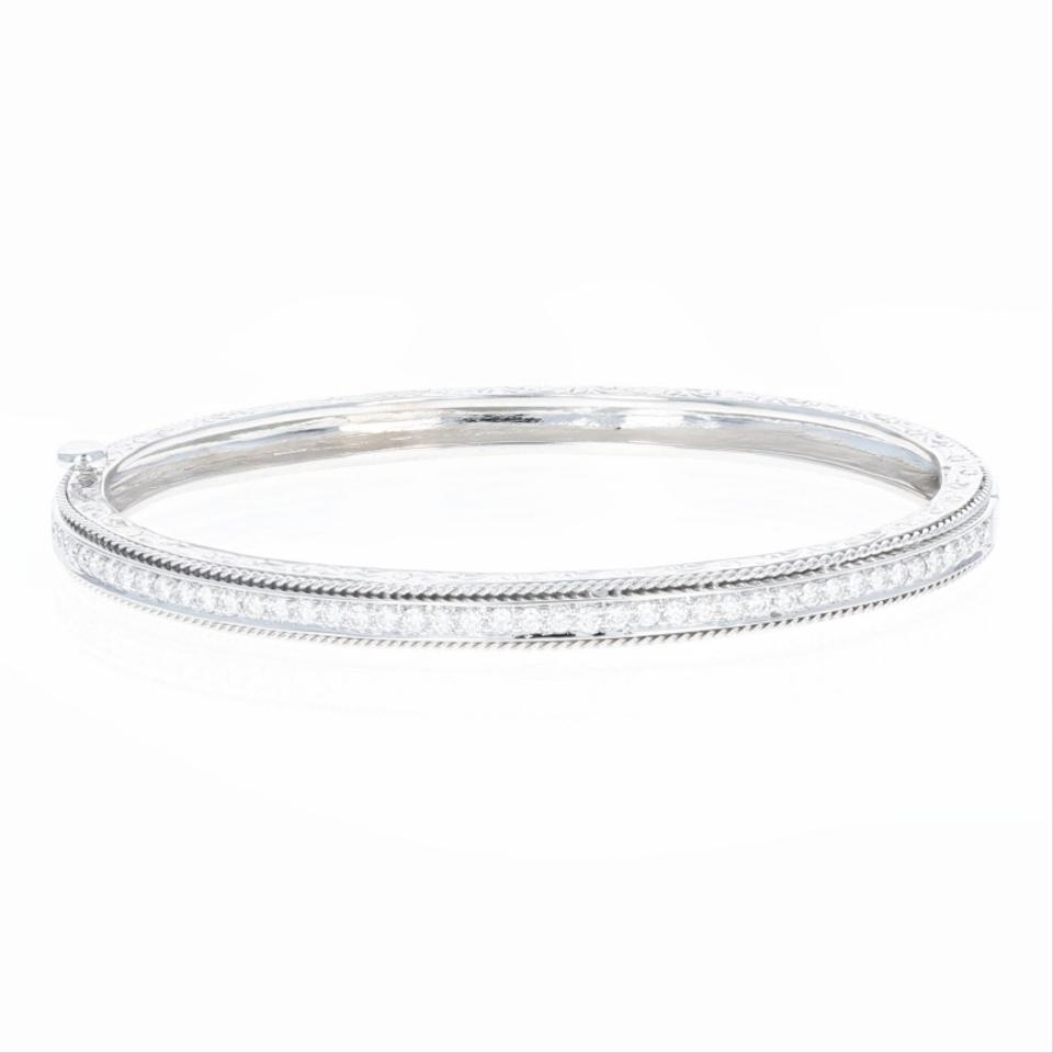 single bangles amore pave product diamond white roberto coin square jewelers products bracelet bangle d gold