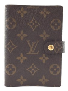 Louis Vuitton #15945 monogram 6 Ring agenda PM check book wallet holder card