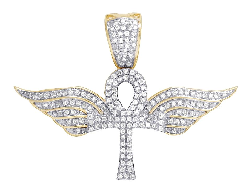 Jewelry unlimited 10k yellow gold mens flying wing ankh cross jewelry unlimited mens 10k yellow gold flying wing ankh cross diamond charm pendant 30c aloadofball Gallery
