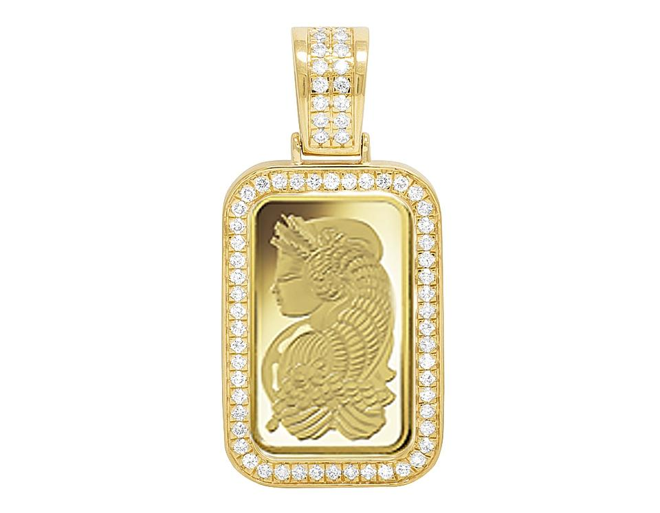 Jewelry unlimited 10k yellow gold lady fortuna 10 gram bar diamond jewelry unlimited 24k yellow gold lady fortuna 10 gram bar diamond frame pendant 12 ct aloadofball Choice Image