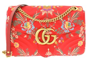 Gucci Jacquard Canvas Floral Shoulder Bag