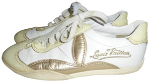 Louis Vuitton WHITE WITH YELLOW & GOLD ACCENT Athletic