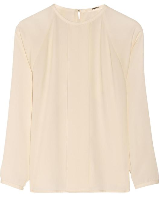 Item - Cream New Without Tags Luciana Pleated Sheer Long Sleeve Blouse Size 4 (S)