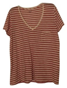 Madewell T Shirt Red and White Stripe
