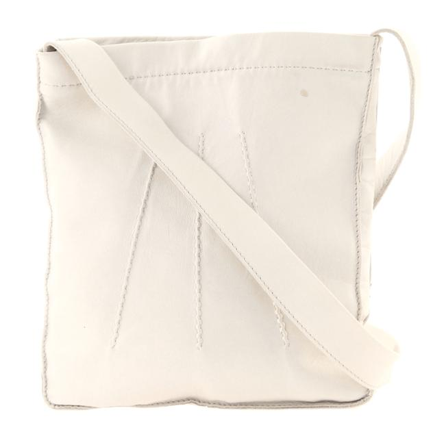 Item - Small Light Grey Leather Messenger Bag