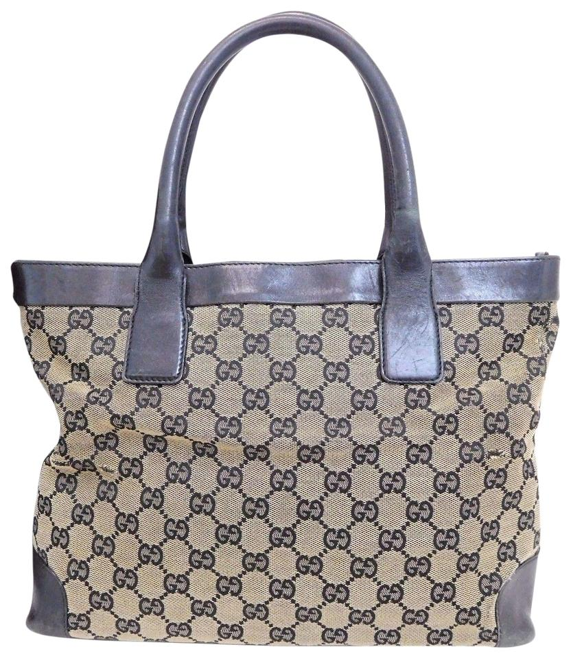 061e0adf6864 Gucci Perfect Size Great Everyday Excellent Vintage Comes With Dust Classic  Style Tote in navy blue ...