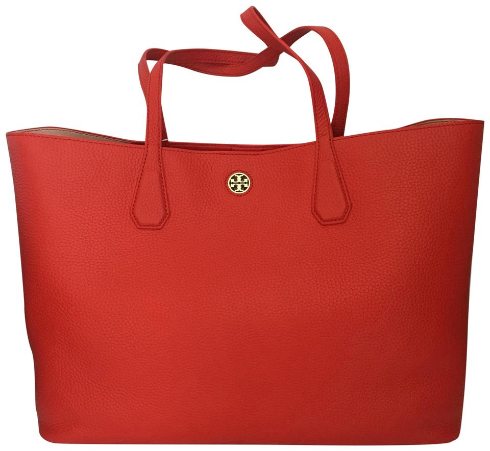 a6e84925815 Tory Burch Tote in red Image 0 ...