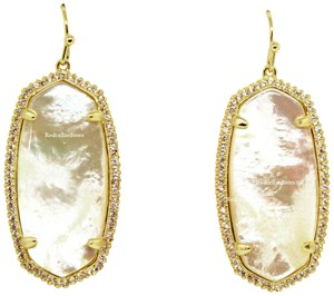 Kendra Scott BRAND NEW Kendra Scott Elle Pave Drop Earrings Mother of Pearl