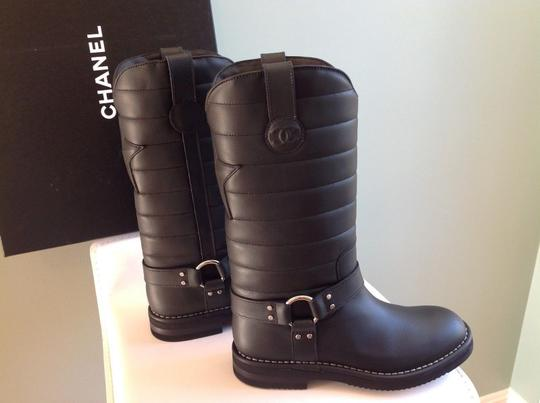 Chanel Black Quilted Leather Star Harness Motorcycle Biker