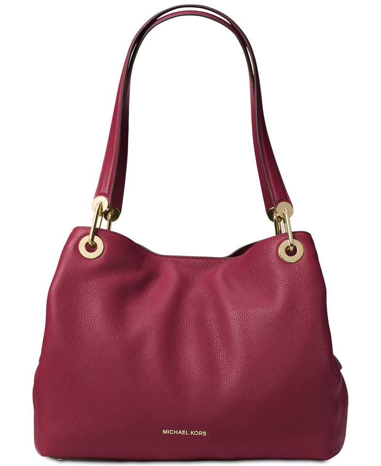 5626e5a2a5023 MICHAEL Michael Kors Raven Large Mulberry Leather Tote - Tradesy