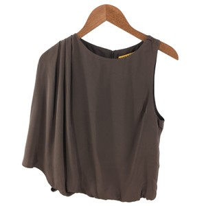 Alice + Olivia One Shoulder Evening Holiday Winter Fall Top DK. PLUM