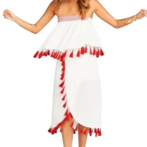 Show Me Your Mumu White and red Halter Top