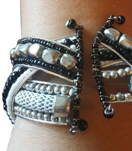 PRIVATE PARTY Stunning Silver and Black Spiral Bracelet