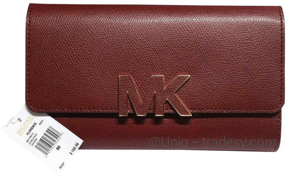 6386b9c22107 Michael Kors MK Double Sided Large Wallet Clutch Holder ID Wallet Coin Purse  / bag Image ...