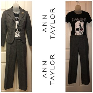 Ann Taylor Ann Taylor Virgin Wool Suit Grey Jacket S2 & Pants S4. (Jacket & Pants only)