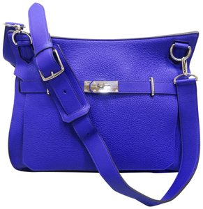 Hermès Togo Jypsiere 37 Purple Shoulder Bag