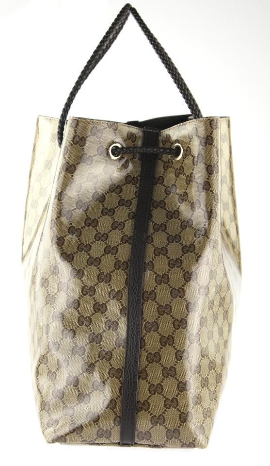 200b7c8aa Gucci Gifford Beige and Brown Gg Canvas Tote - Tradesy