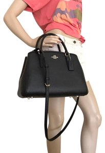 Coach Shoulder Brown Carry All Satchel in Black