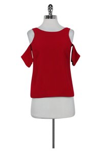 Elizabeth and James Cut Out Top Red