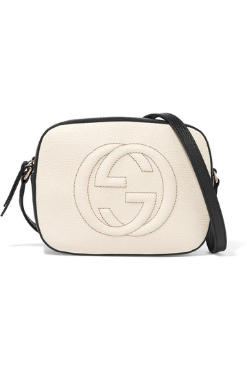 115db5a187e1 Gucci Disco Bag Black And White. Gucci Black White Textured Leather Disco  Soho Shoulder Bag - Tradesy
