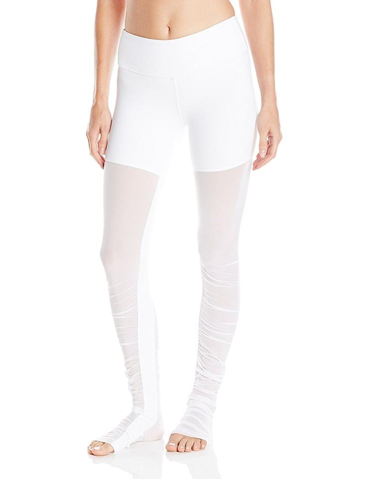Alo Mesh Activewear Goddess Leggings White xaOxqw6R