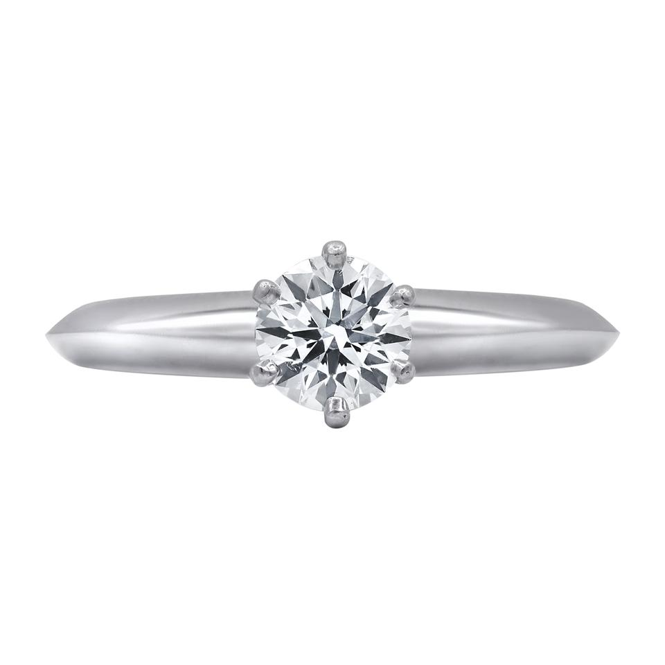 60cce2faa Tiffany & Co. White Classic Round Cut Engagement Ring - Tradesy