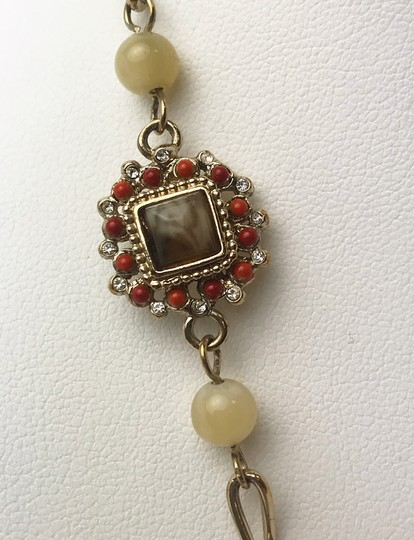 Chanel Authentic Chanel Mother of Pearl CC Pendant Necklace Image 2