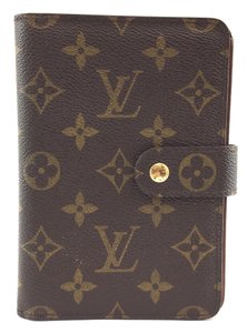 Louis Vuitton #15974 Large Monogram compact Flap Wallet bifold Zip Zippy around
