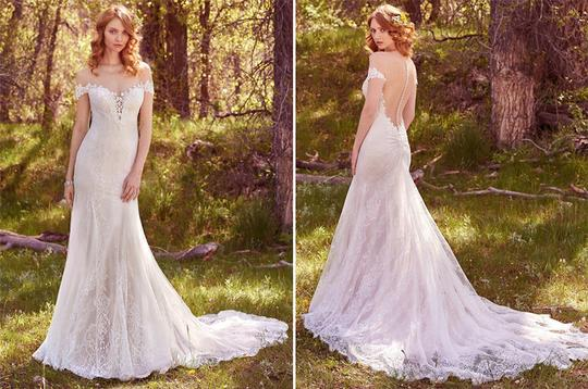Maggie Sottero Antique Ivory Lace Shae Vintage Wedding