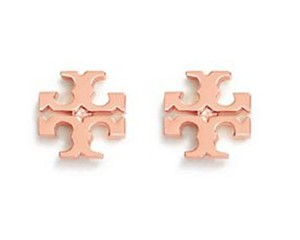 Tory Burch New Tory Burch Small T-Logo Studs on Card with Dust Cover - ROSE GOLD